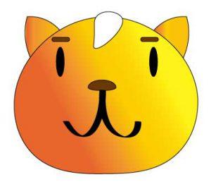 困った表情の猫のイラスト